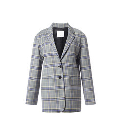 black multicolor lucas suiting oversized blazer