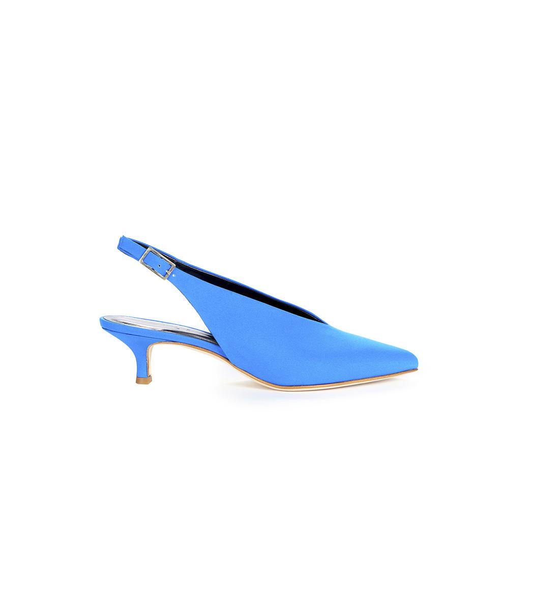 Blue Lia Heels