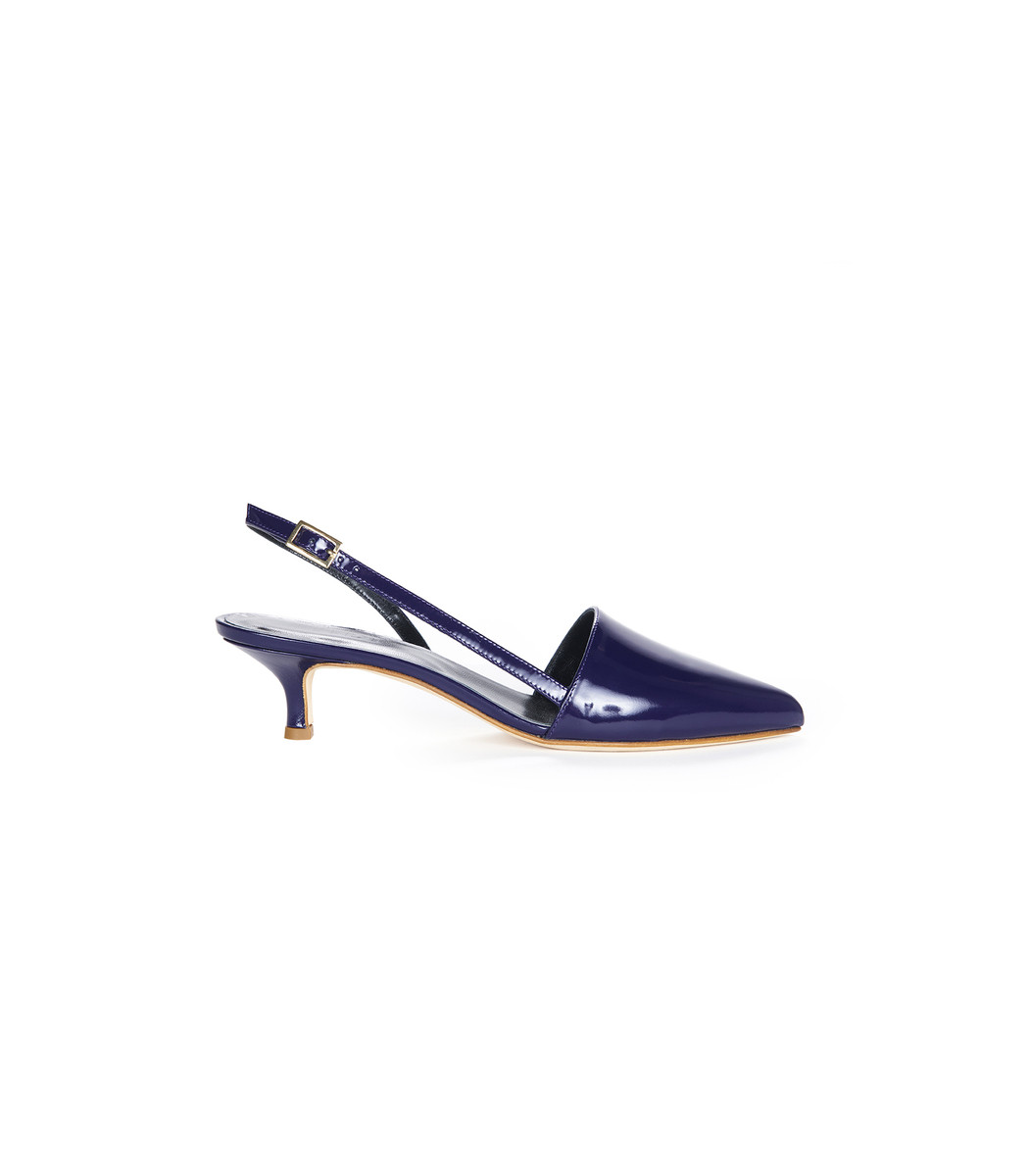 a77c513b78b Tibi Simon Heels - Violet Polished Calf Heels