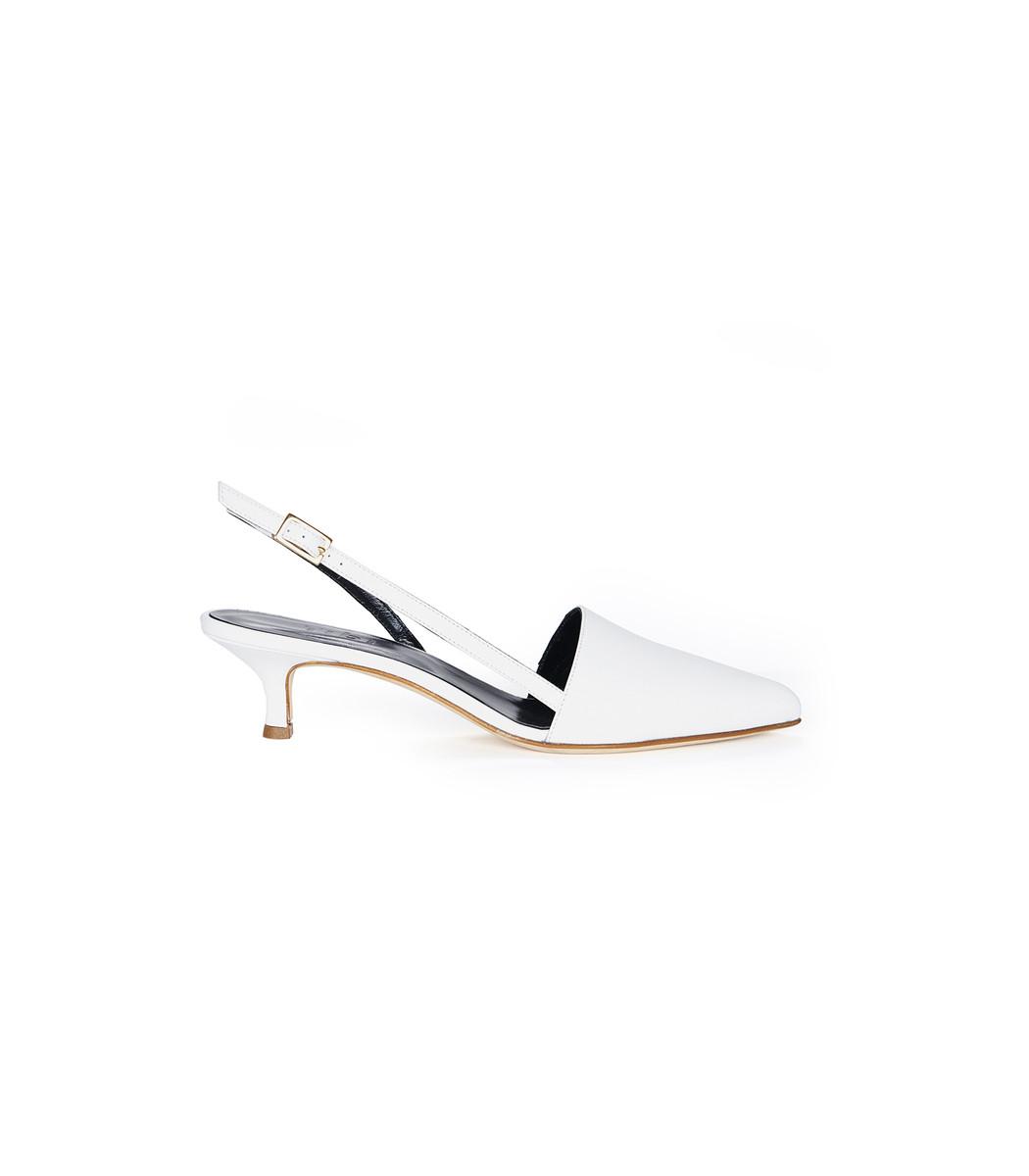 White Simon Heels
