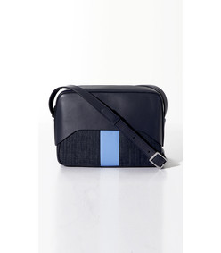 navy/blue garçon bag by myriam schaefer