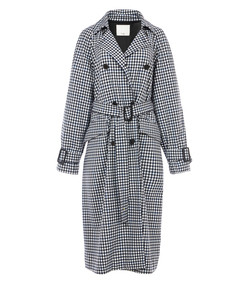 gingham overcoat