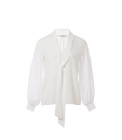 savanna crepe gibson tie top