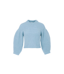 baby blue cozette alpaca cropped pullover