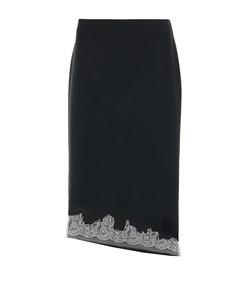 black multi lou lou appliqué skirt