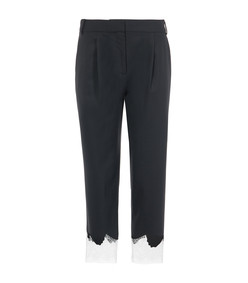 black multi lou lou appliqué trousers