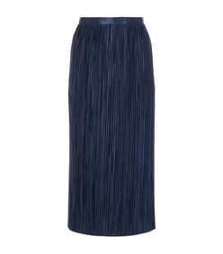 navy plissé skirt