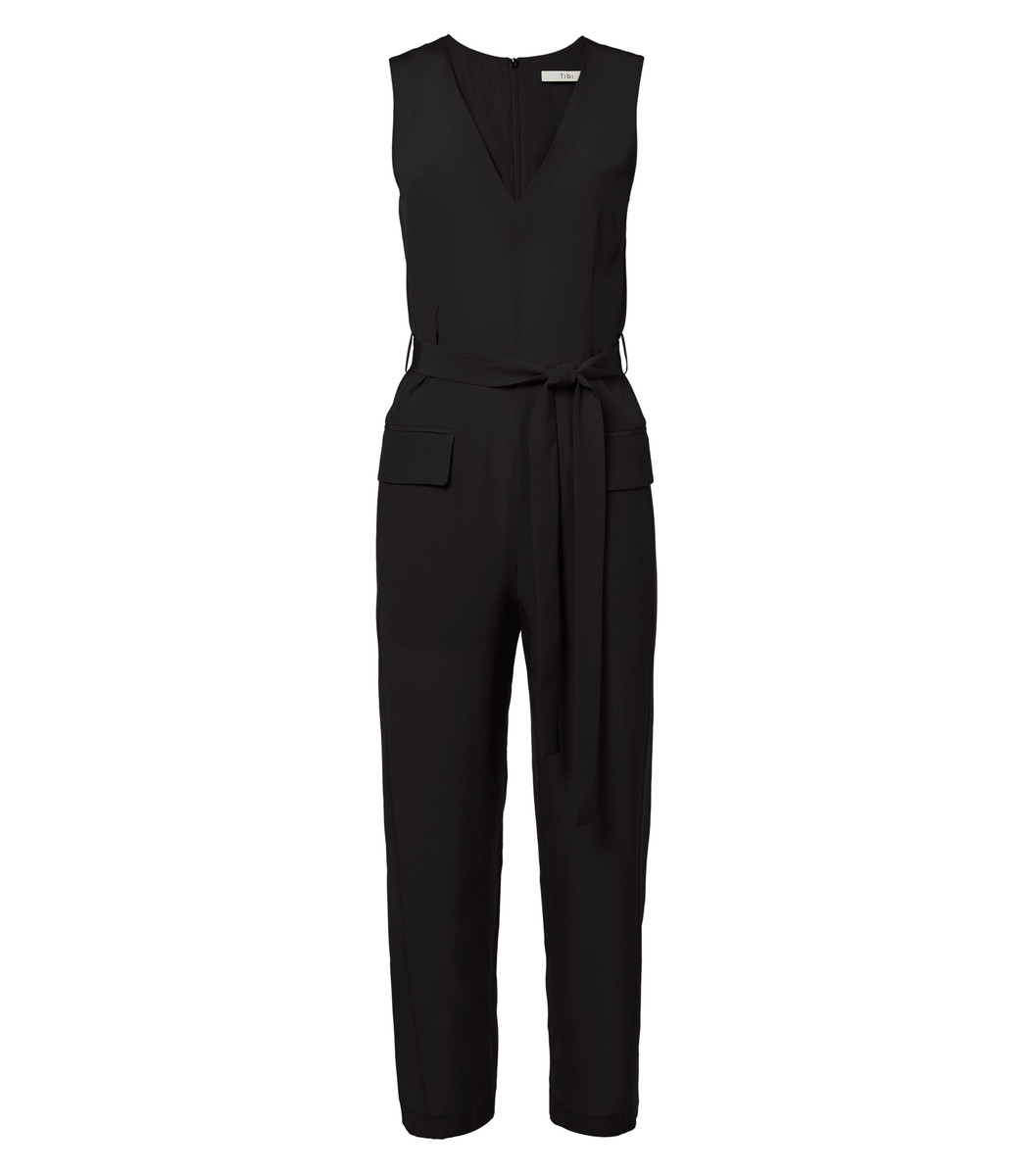 Silk Jumpsuit with Belt