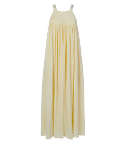 arielle silk overall pleated dress