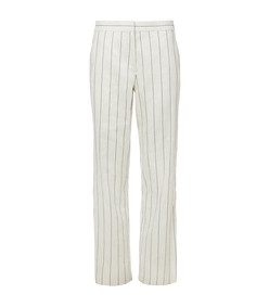 ivory multicolor viscose stripe snap pants