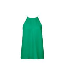 green cupro halter top
