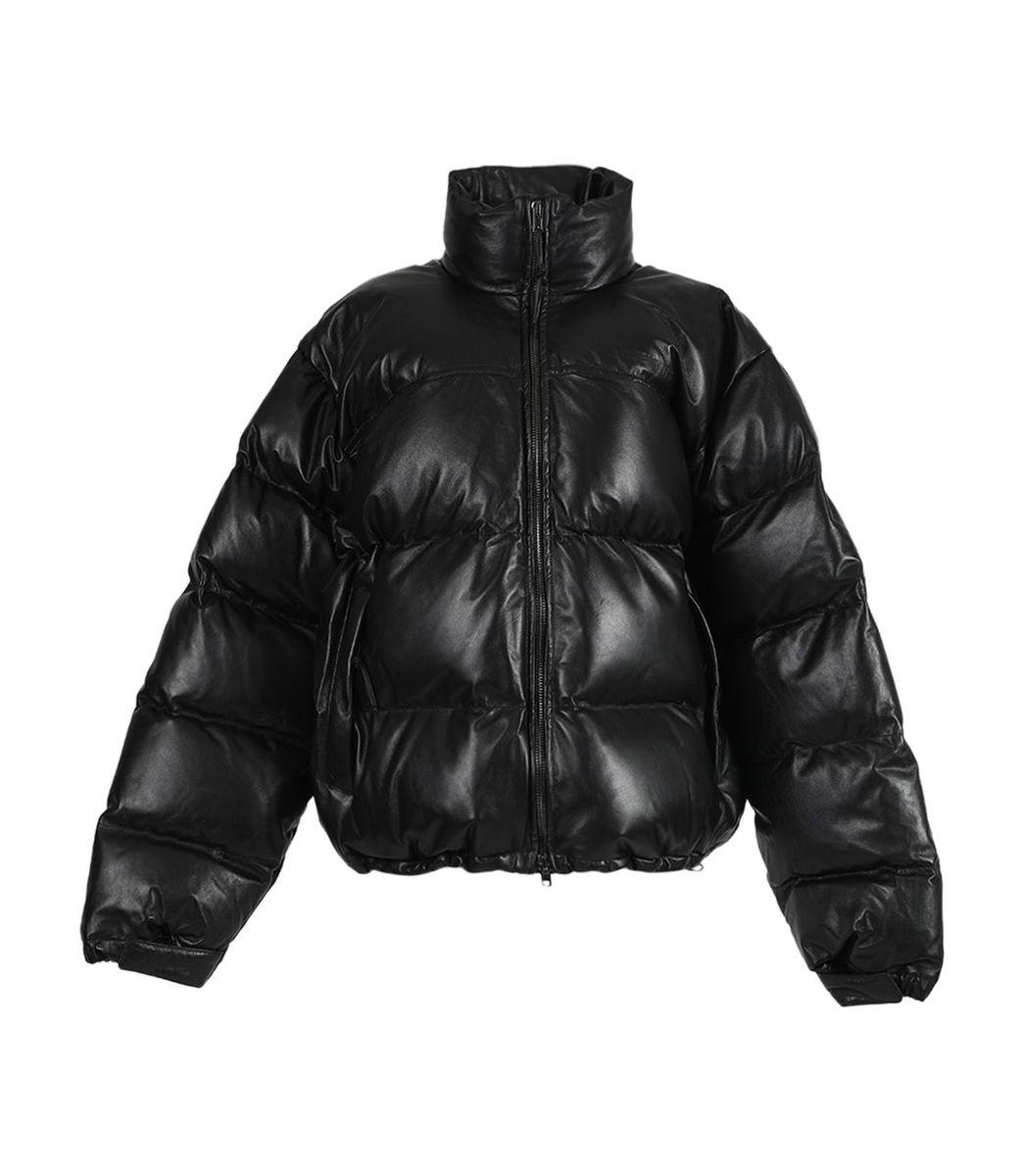 Vetements Black Leather Lambskin Jacket