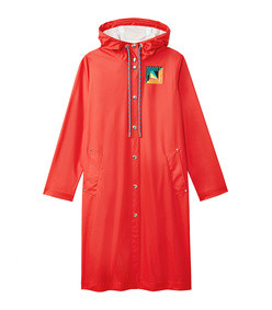 pswl hooded rubberized raincoat