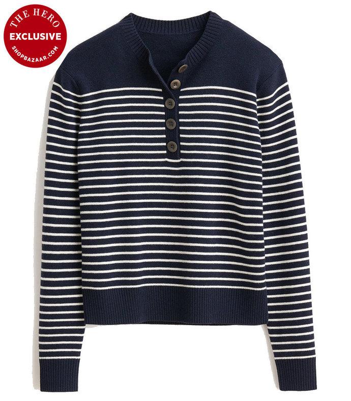 mariner striped henley top