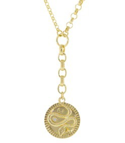 wholeness medallion mixed link belcher chain necklace