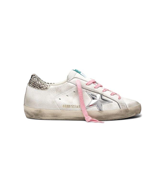 superstar sneaker in white nabuk/3d star
