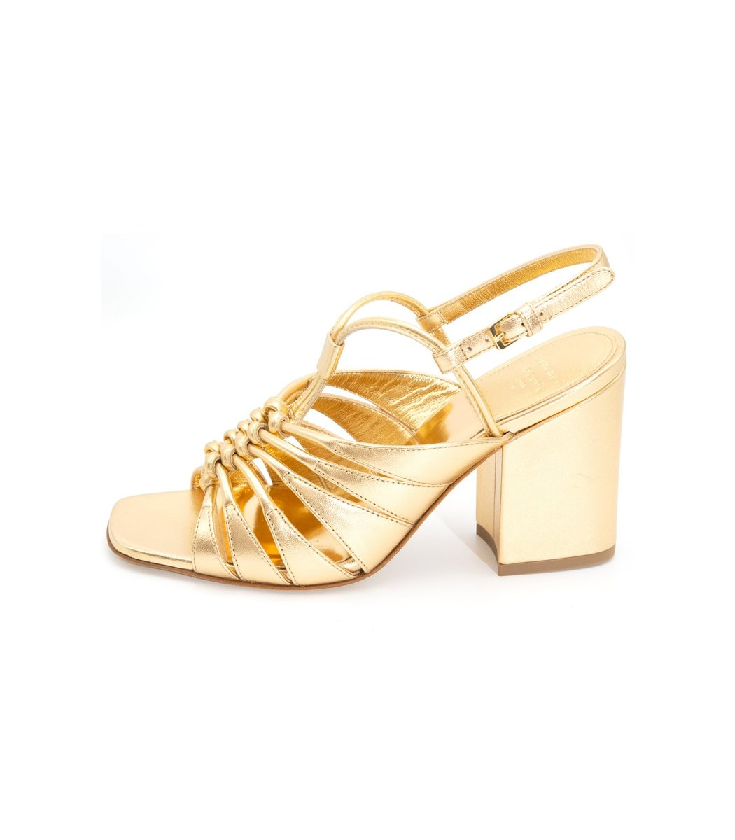 Laurence Dacade The Burma Day Party Sandal in Gold