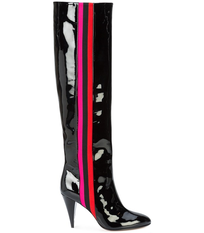 scorpi boots in patent leather