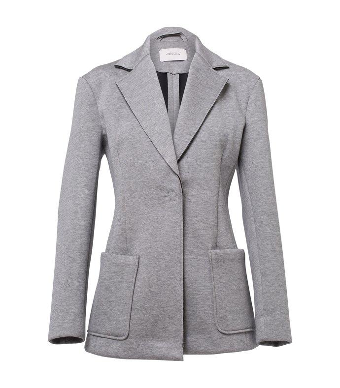 minimalistic charm jacket in dark grey melange