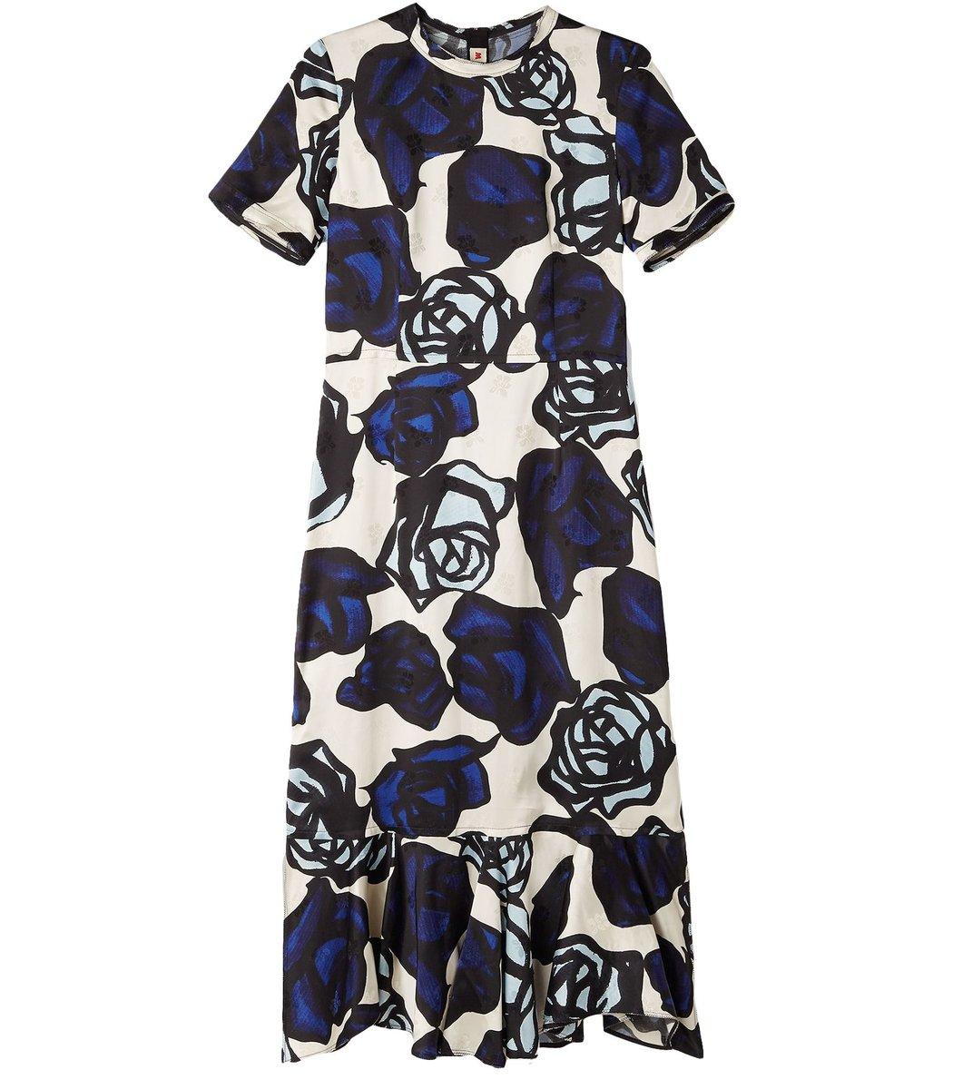 Marni Flounced Dress in Roma Print