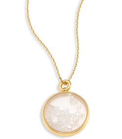 diamond & 18k yellow gold medallion
