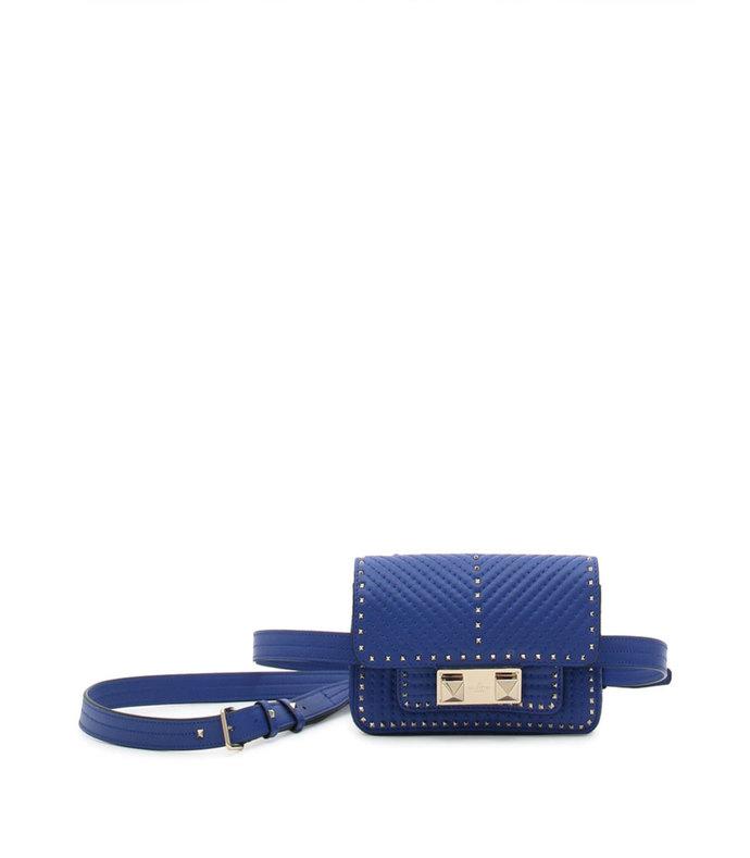 ziggy stud leather mini convertible belt bag
