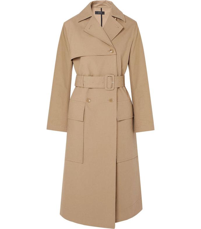 aquila cotton-gabardine trench coat