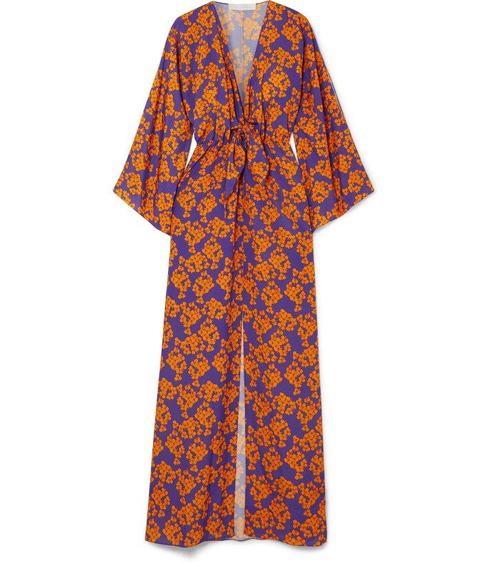elsa floral-print crepe maxi dress