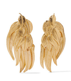 elvira gold-plated clip earrings