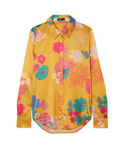 maxwell floral-print silk-blend satin shirt