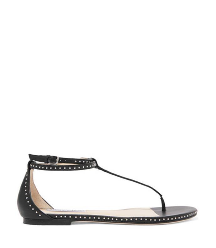 afia studded leather sandals