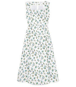 polly floral-jacquard midi dress