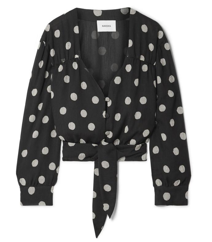 amulet polka-dot chiffon blouse