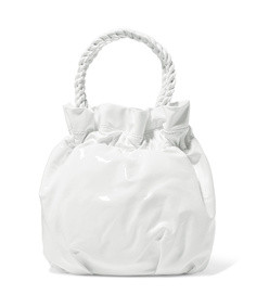 grace patent-leather tote