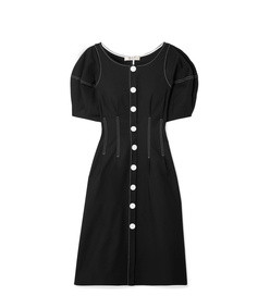 kamille stretch-cotton midi dress