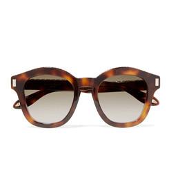 embellished round-frame tortoiseshell acetate sunglasses