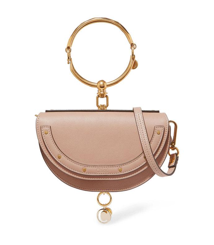 nile bracelet mini textured-leather shoulder bag