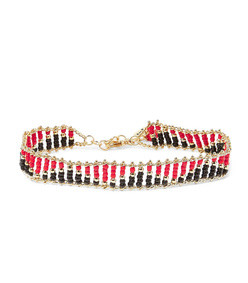 dakota gold-tone beaded anklet