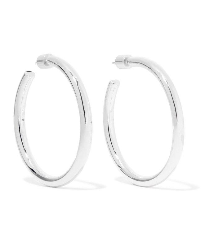 baby lily silver-plated hoop earrings