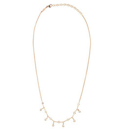 diamond & rose-gold necklace