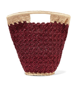 lily woven faux raffia bucket bag