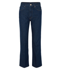 the a high-rise straight leg jeans