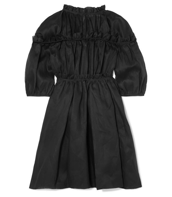 carmen ruffled cotton-organza dress
