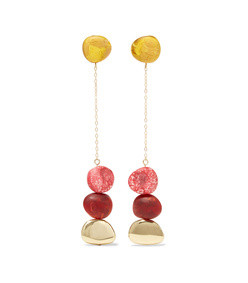 gold-tone resin earrings