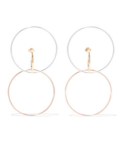 galilea silver, gold and rose gold vermeil earrings