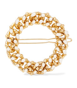 ingranaggio gold-tone pearl hair clip
