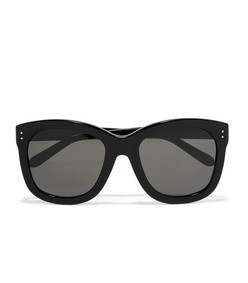 oversized-frame acetate sunglasses