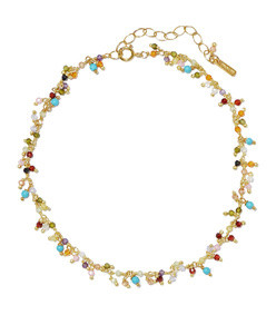 gold-plated crystal anklet