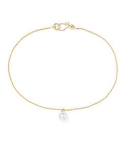 palme de perle 14-karat gold pearl anklet
