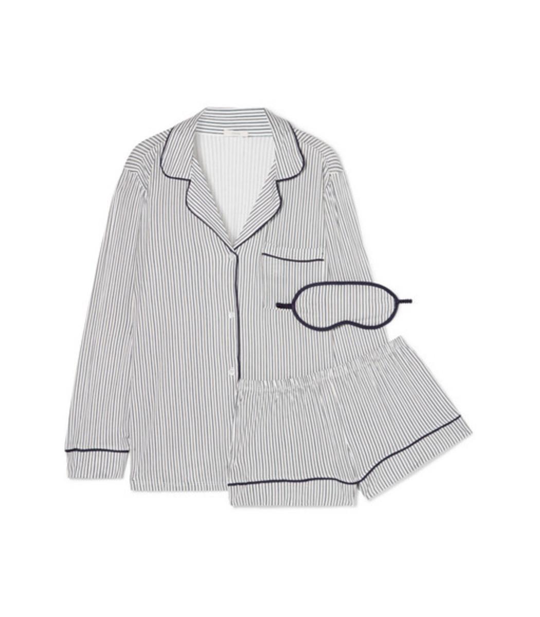 3cf2270183 Eberjey Sleep Chic Striped Jersey Pajama Set - ShopBAZAAR